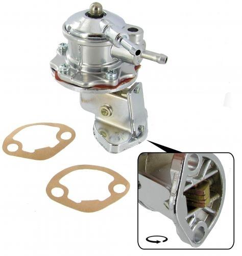 Benzinpumpe / Kraftstoffpumpe verchromt Bild 1
