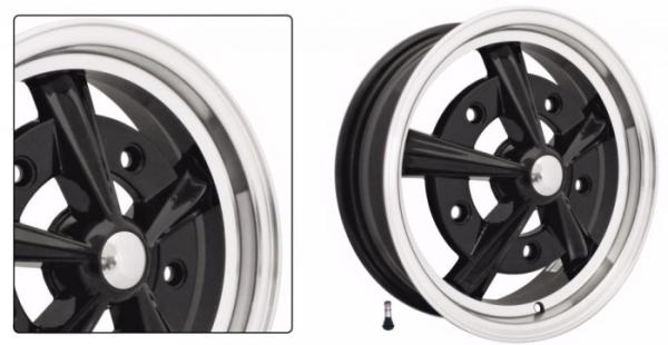 Radar Felge schwarz / silber Bild 1