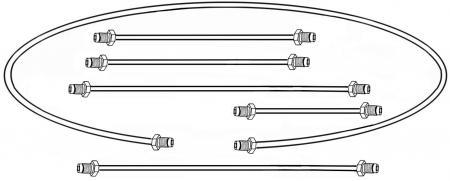 Bremsleitungset Metall Zweikreis Bremsanlage Bild 1