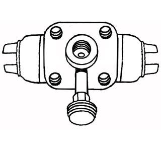 Radbremszylinder vorne »9/52 Bild 1