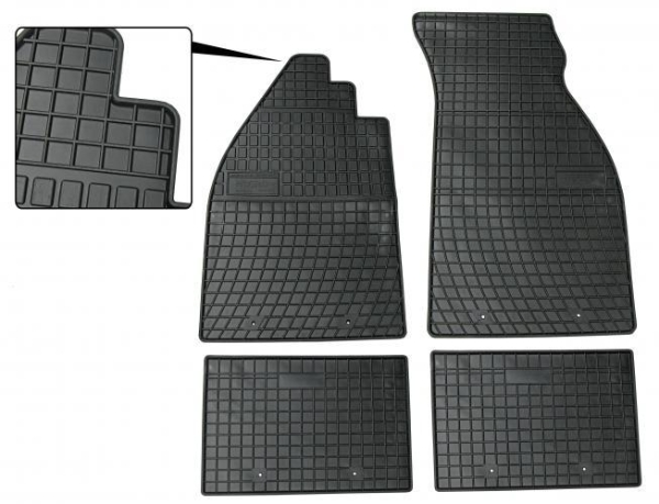 Fußmatten Set Gummi schwarz Bild 1