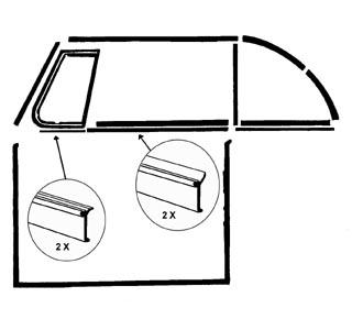 Fensterdichtung vorne außen ohne Zierleiste Cabrio Bild 1