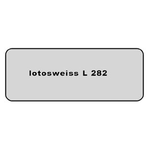Farb-Code Aufkleber L 282 lotosweiß Bild 1