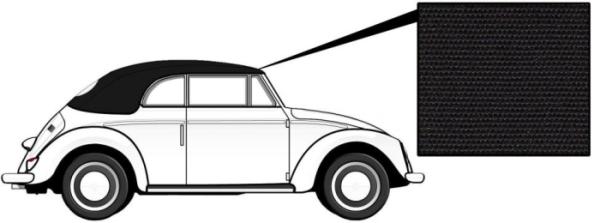 Cabrio Verdeck Canvas schwarz 8/57»7/62 Bild 1