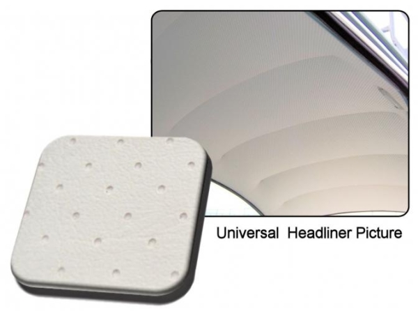 Dachhimmel weiß Vinyl perforiert / ohne Schiebedach Bild 1