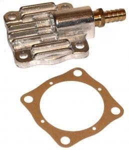 Deckel für Ölpumpe mit Ausgang Aluminium Bild 1