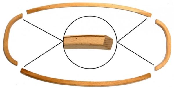 Heckscheibenrahmen Holz Cabrio Bild 1
