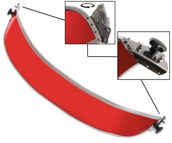 Sonnenblende Frontscheibe rot 1303 Bild 1