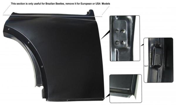 Reparaturblech Seitenteil hinten rechts unter Seitenfenster Bild 1