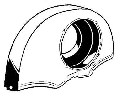 Lüfterhaube ohne Heizverbindung schwarz Bild 1