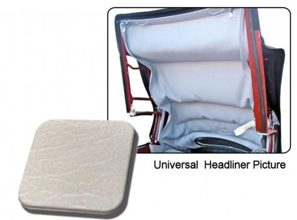 Cabrio Innenhimmel / Dachhimmel weiß ohne Perforation Vinyl Bild 1