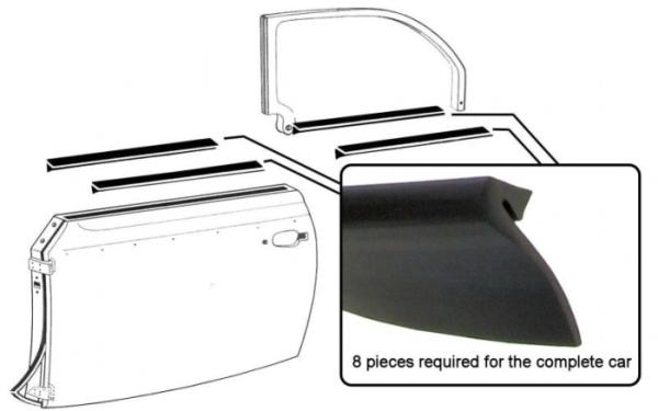 Fensterdichtungen hinten / vorne / innen / außen Cabrio Bild 1