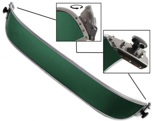 Sonnenblende Frontscheibe grün Bild 1