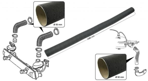 Heizschlauch / Gebläseschlauch Heizung / Luftfilter Karton Bild 1
