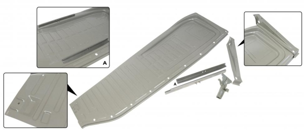 Komplette Bodenplatte links A-Qualität