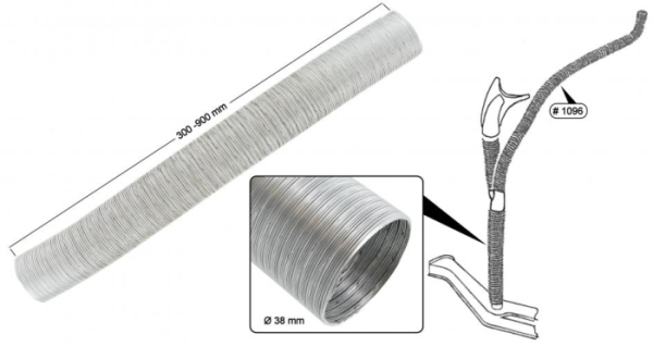 Heizschlauch / Gebläseschlauch Aluminium Bild 1