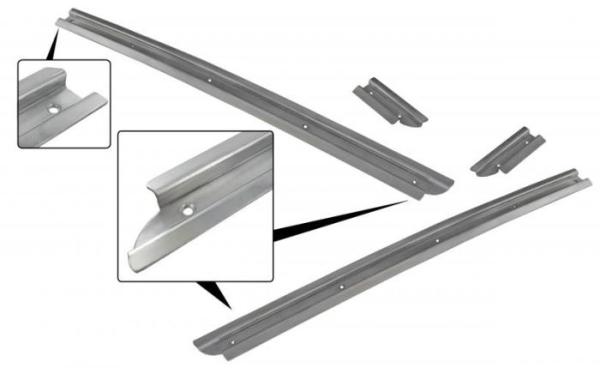 Gleitschienen Faltdach Aluminium Bild 1