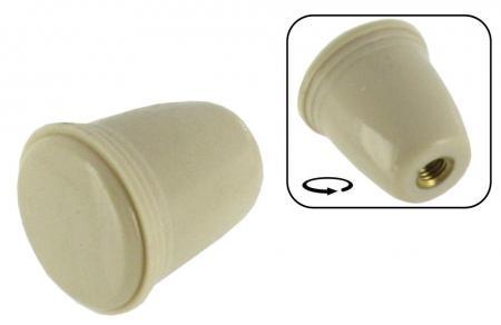 Knopf Lichtschalter / Choke / Aschenbecher Elfenbein-Optik Bild 1