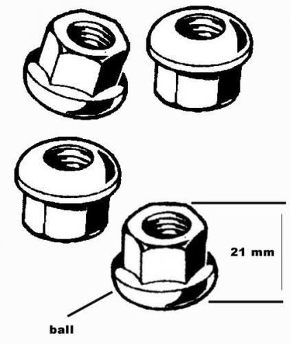Radmuttern Stahl Standard Bild 1