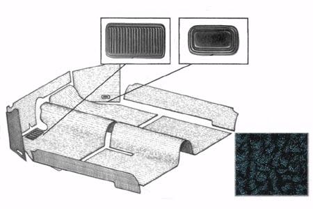 Innenraum Teppich Set schwarz Bild 1