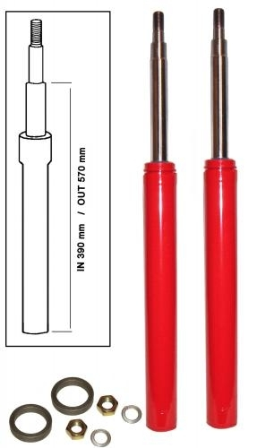 Hydraulische Stoßdämpfer vorne Einstellbar Bild 1