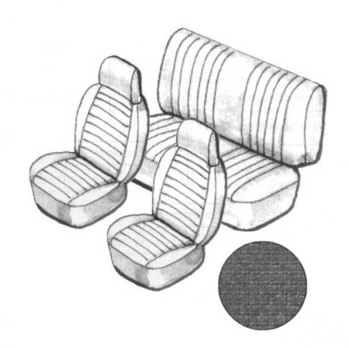 Sitzbezug Set schwarz mit Kopfteil feinmaschig Bild 1