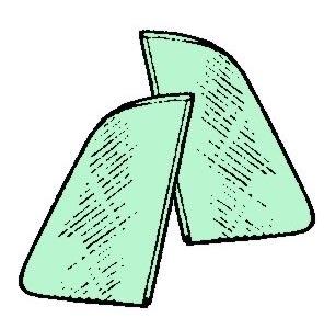 Dreiecksfenster grün getönt Bild 1