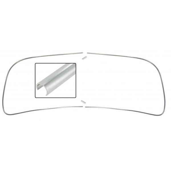 Zierleisten Windschutzscheibe Aluminium Cabrio Bild 1
