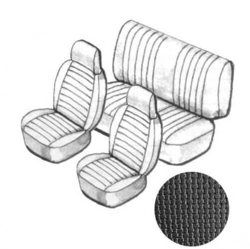 Sitzbezug Set schwarz mit Kopfteil grobmaschig Bild 1