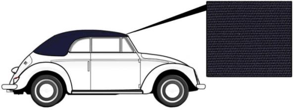 Cabrio Verdeck Canvas blau 1303 8/72» Bild 1