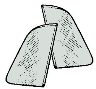 Dreiecksfenster grau getönt Bild 1