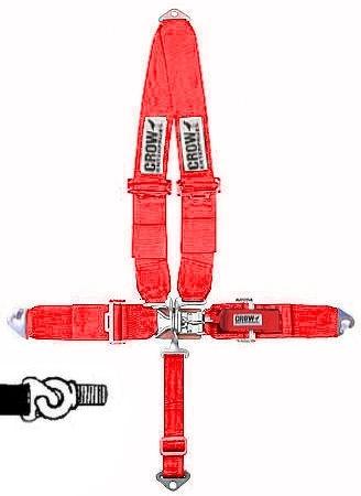 Sicherheitsgurt 5-Punkt-Gurt rot Bild 1