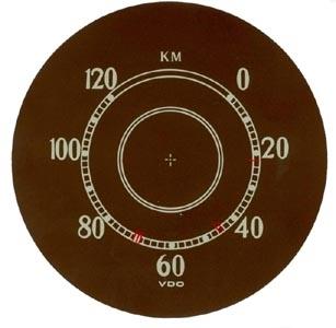 Tachometerscheibe Aufkleber Bild 1
