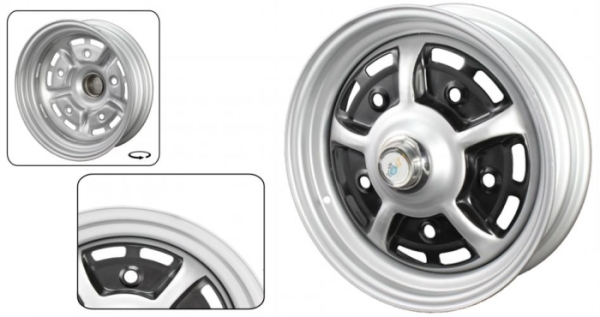 Sprintstar Felge grau / schwarz Bild 1