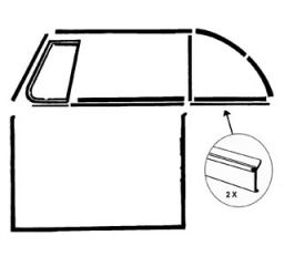 Fensterdichtung hinten außen ohne Zierleiste Cabrio Bild 1