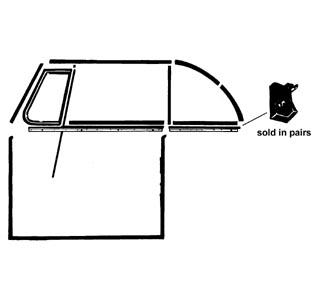 Abschluss Fensterdichtungen hinter Fenster hinten Cabrio Bild 1