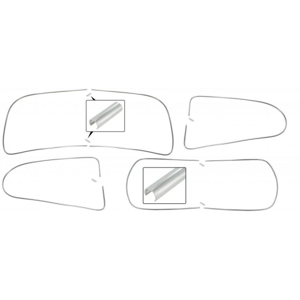 Zierleisten Fensterdichtungen Aluminium Bild 1