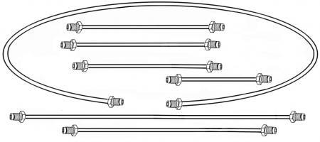 Bremsleitungset Metall Zweikreis Bremsanlage Trommelbremsen 1200 | 1300 | 1500 8/66» Bild 1