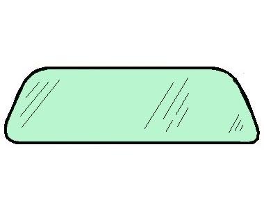 Windschutzscheibe / Frontscheibe grün getönt Bild 1