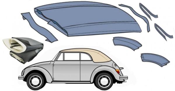 Dachisolierung / Verdeck Dämmungsset Cabrio Bild 1