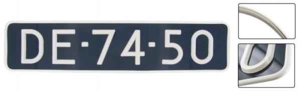 Rahmen Nummernschild Vinyl weiß 44.5x10.5cm Bild 1