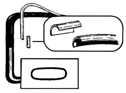 Zierleisten Heckscheibe Aluminium Cabrio Bild 1