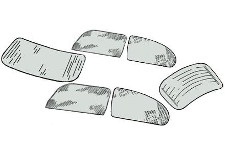 Scheibenset grau getönt One-Piece 1303 Bild 1