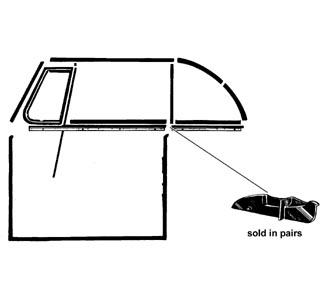 Abschluss Fensterdichtungen vor Fenster hinten Cabrio Bild 1