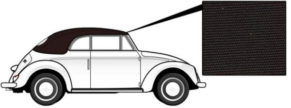 Cabrio Verdeck Canvas braun 1303 8/72» Bild 1