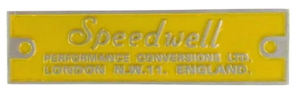 Abzeichen Armaturenbrett Speedwell Bild 1