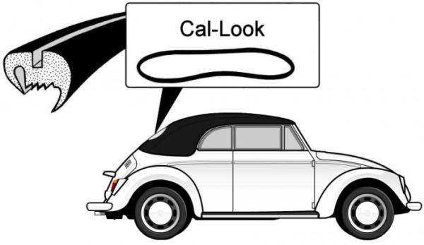 """Cal look"" Dichtung Heckscheibe Cabrio Bild 1"
