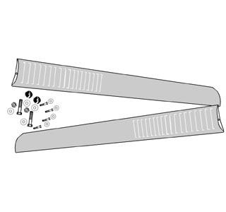 Trittbrett links / rechts Edelstahl poliert mit Profil Bild 1