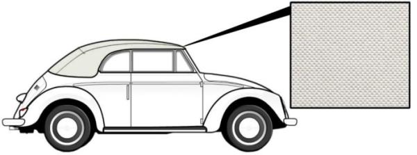 Cabrio Verdeck Vinyl weiß 1303 8/72» Bild 1