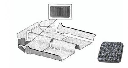 Cabrio Innenraum Teppich Set grau Bild 1